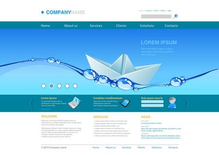 Website template: Wasser Papier Boot. Business-Konzept. Standard-Bild - 12840975