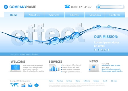 water logo: Website Eco. Water clear for your Healthlife. Business concept.