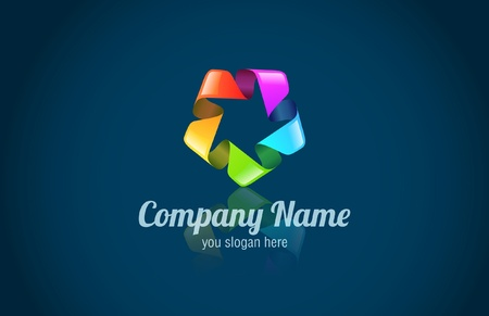 Abstract logo for any company. Multicolor. Modern logotype, Colors can be use for different business departments Vectores
