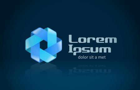 company: Logo abstract infinite shape  For any type of company
