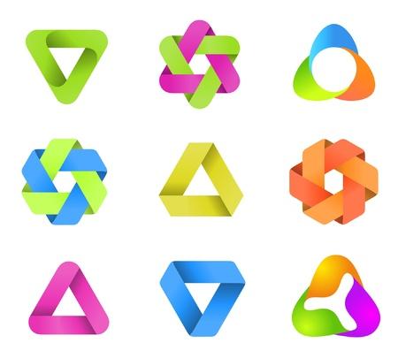 Colecci�n de logotipos. La forma infinita. Multiusos.