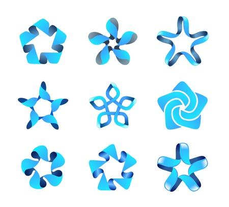 LOGO set. Infinity shape. Multiuse. Illustration