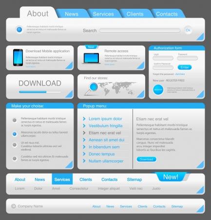 Web デザイナーのツールキットです。デザイン要素のコレクション。ベクトル。編集可能です。