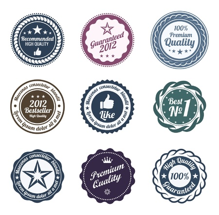 RETRO Design. Premium Vintage Labels. Trendy design. High quality. Stock Vector - 13910911