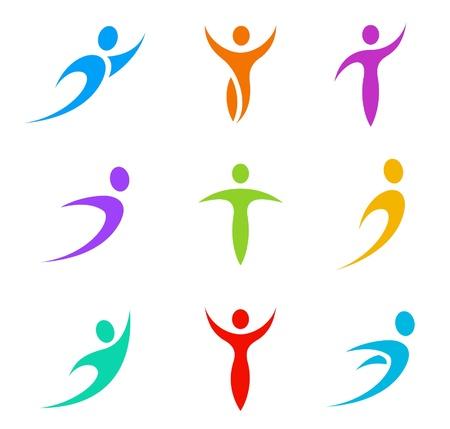 saludable logo: Logotipo abstracto. Negocios, Deportes, Salud, Spa, Formaci�n Vectores