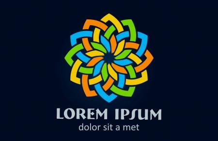 Logo bloem abstracte. Business Star Stock Illustratie