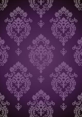 De fondo de la vendimia. Patrón de púrpura. Vector. Foto de archivo - 14095943