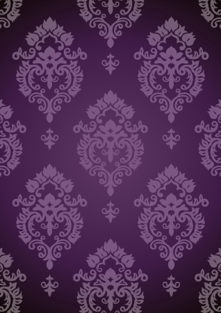 Vintage background. Purple pattern. Vector. Stock Vector - 14095943