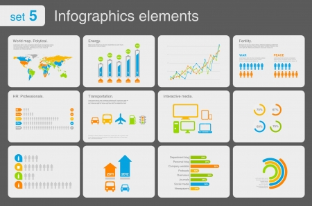 Infographics elements with icons. For business and finance reports, statistics, diagram graph Vettoriali