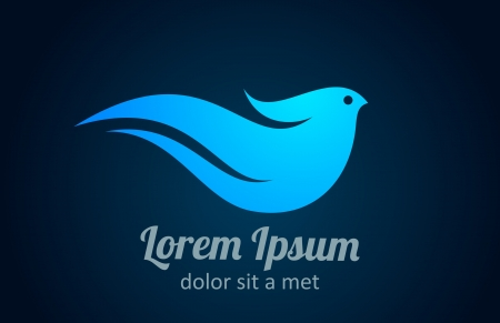 Logo bird. Abstract icon. Health, Spa, Business concept Vector