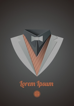 dinner jacket: Business suit  Origami casual theme  Dinner jacket expensive