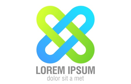 Logo Team. Infinite shape icon. Stock Vector - 14481338