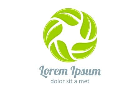 infinite: Logo Eco. Infinite shape icon. Green leaves loop. Vector. Editable. Illustration