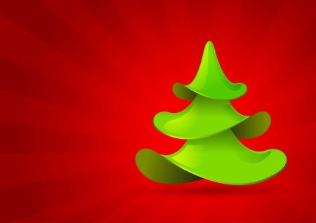 Christmas tree icon. Christmas card design template. Stock Vector - 15526790