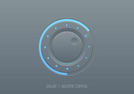 モバイル デバイスの web UI デザイン要素インターフェイス コントロール ボタン音響パワー制御ノブ