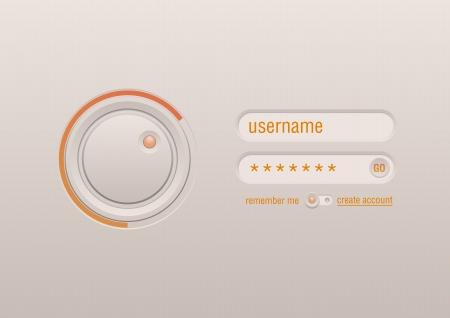 モバイル デバイスの web UI デザイン要素インターフェイス承認フォーム コントロール ボタン  イラスト・ベクター素材