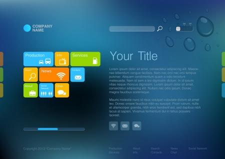 コーポレート サイト テンプレート創造的な多機能メディア デザイン モバイル インターフェイスの編集  イラスト・ベクター素材