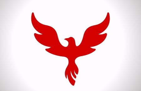 Vôo do pássaro logotipo Luxo ícone do estilo Phoenix