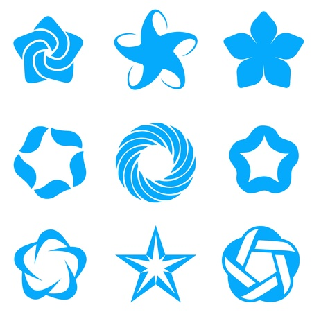 infinite shape: Abstract set  Business Star Icons  Ribbon style   Illustration