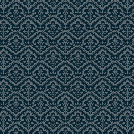 Vintage floral background  Old style Wallpaper  Vector