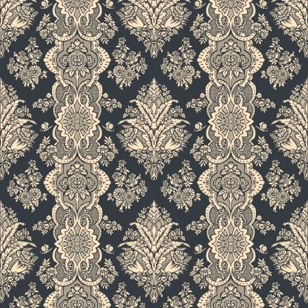 빈티지 배경 꽃 패턴 장식 벽지