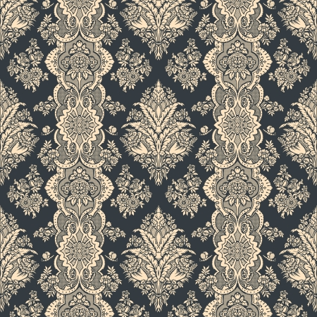 antiek behang: Vintage achtergrond Bloemen patroon Ornament Achtergrond