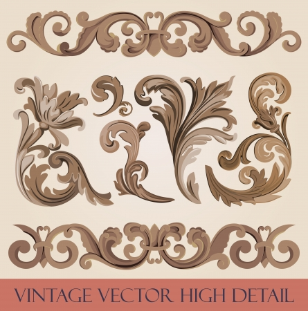 Vintage floral design elements collection  Luxury Stock Vector - 16134705