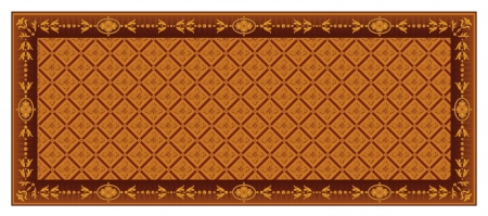 Vintage floral Frame. Vector Flourish ornament. Retro pattern design. Old style background. Wallpaper. High Detailed. Stock Vector - 16385151