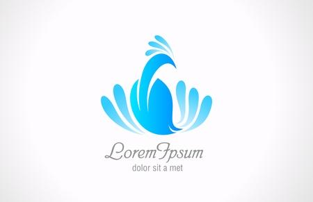 Bird Abstract Icon. Peacock Luxury logo template. Vector.  Ilustração