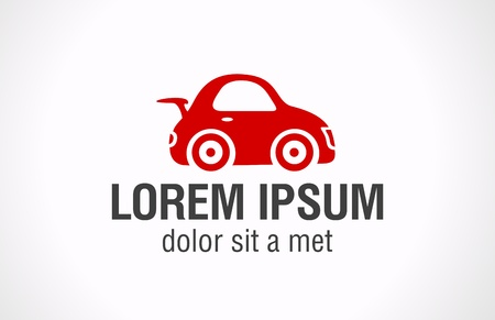 Red toy Car logo template. Vector icon.  Stock Vector - 16385136