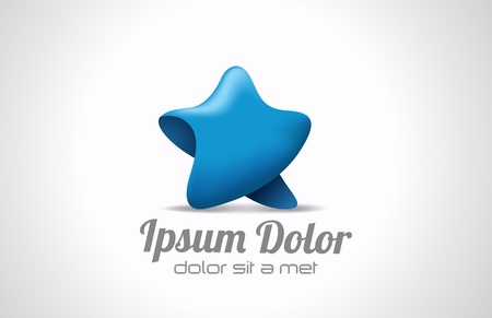 Star Walking abstract icon. 3D logo template. Trendy style. Vector. Editable.  Vector
