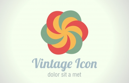 Retro style  Vintage abstract Logo
