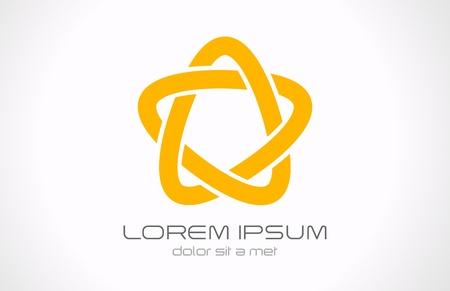 forme: Logo Star boucle infinie icône abstraite Illustration