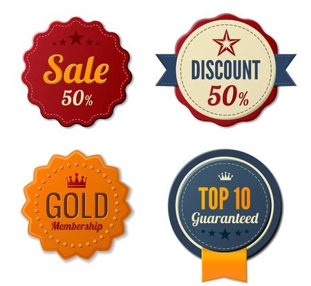Vintage Labels définir des icônes Badge autocollants Rétro Banque d'images - 17204927