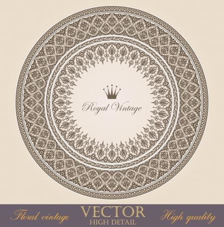 Vintage circle Frames design elements collection Stock Vector - 17204946