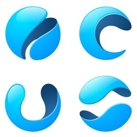Corporativa, Medios, Tecnología, Telecomunicaciones Logo Foto de archivo - 17336784