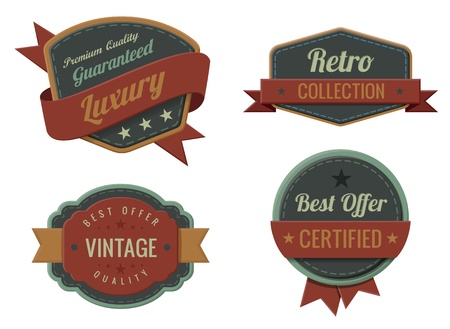 Vintage Labels template collection  Luxury Retro design Stock Vector - 17336786