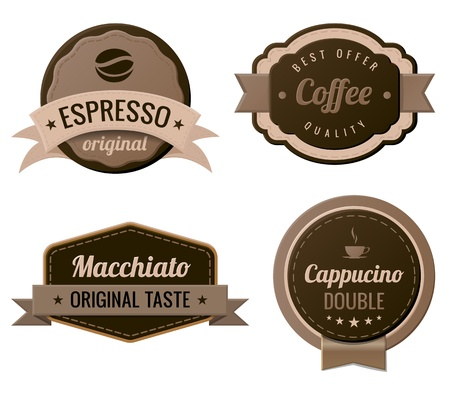 Coffee Vintage Labels template collection Retro  Stock Vector - 17710522