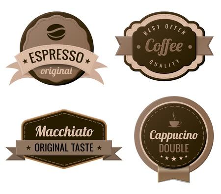 cappucino: Koffie Uitstekende Etiketten template collectie Retro