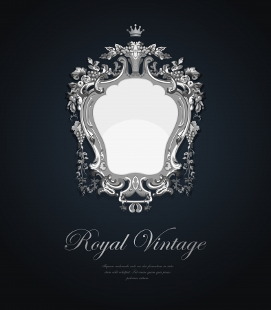 baroque: Vintage Greeting card. Elegant style. Jewellery concept.