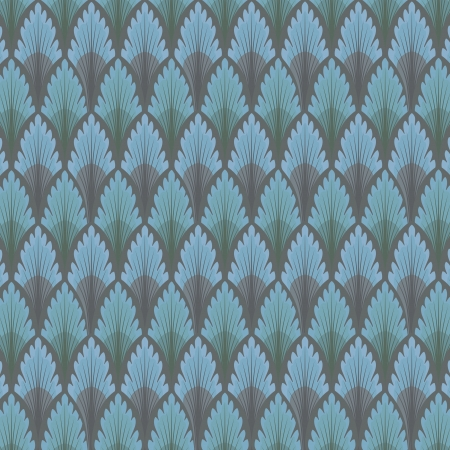 lux: Vintage seamless pattern. Blue wallpaper abstract background Illustration