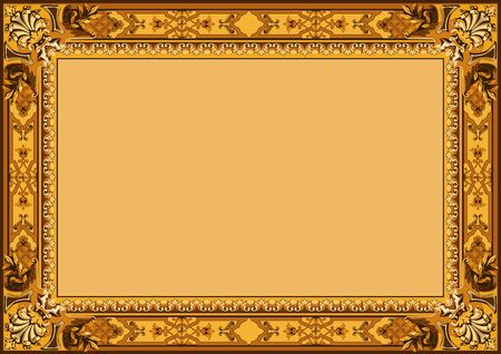 Vintage frame vector  Floral ornament  Carpet  Vector