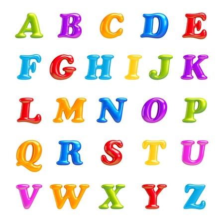 uppercase: 3D de fuentes creativas ABC colecci�n aisladas tipo cartas del alfabeto con n�meros y s�mbolos de alta calidad afilados cartas limpias a, b, c, d, e, f, g, h, i, j, k, l, m, n, o, p, q, r, s, t, u, v, w, x, v, z Foto de archivo