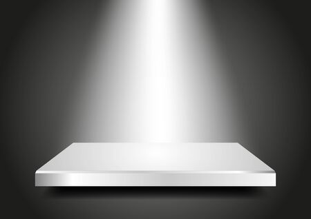 Background abstract for exhibit in virtual space  Blank podium 3D with light from the top  Vector Presentation template for your product  Editable