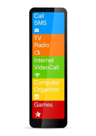 Futuristic Mobile phone concept  Touchscreen Interface icons  Vector  Editable Stock Vector - 18856537