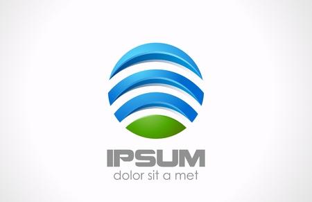 Logo Circle abstract  Global, media, technology icon