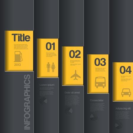 Infographics zakelijke stijl. Creatief ontwerp sjabloon.