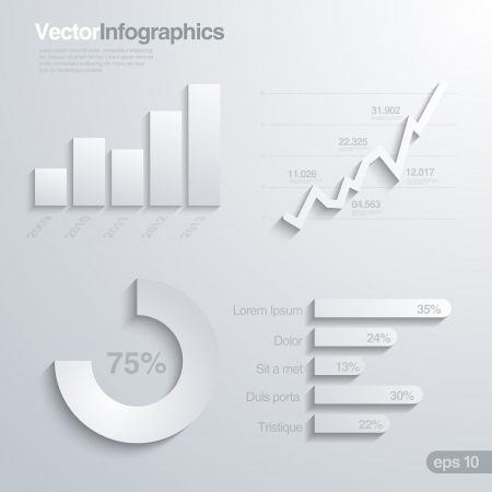 Elegant infographics design elements vector template. Stock Vector - 19089946