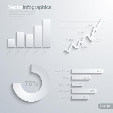 stat: Elegant infographics design elements vector template.