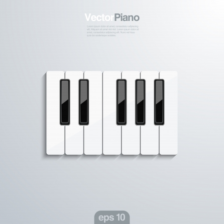 Piano keys 3d illlustraion. Elegant design concept of musical template with piano keyboard. Illustration